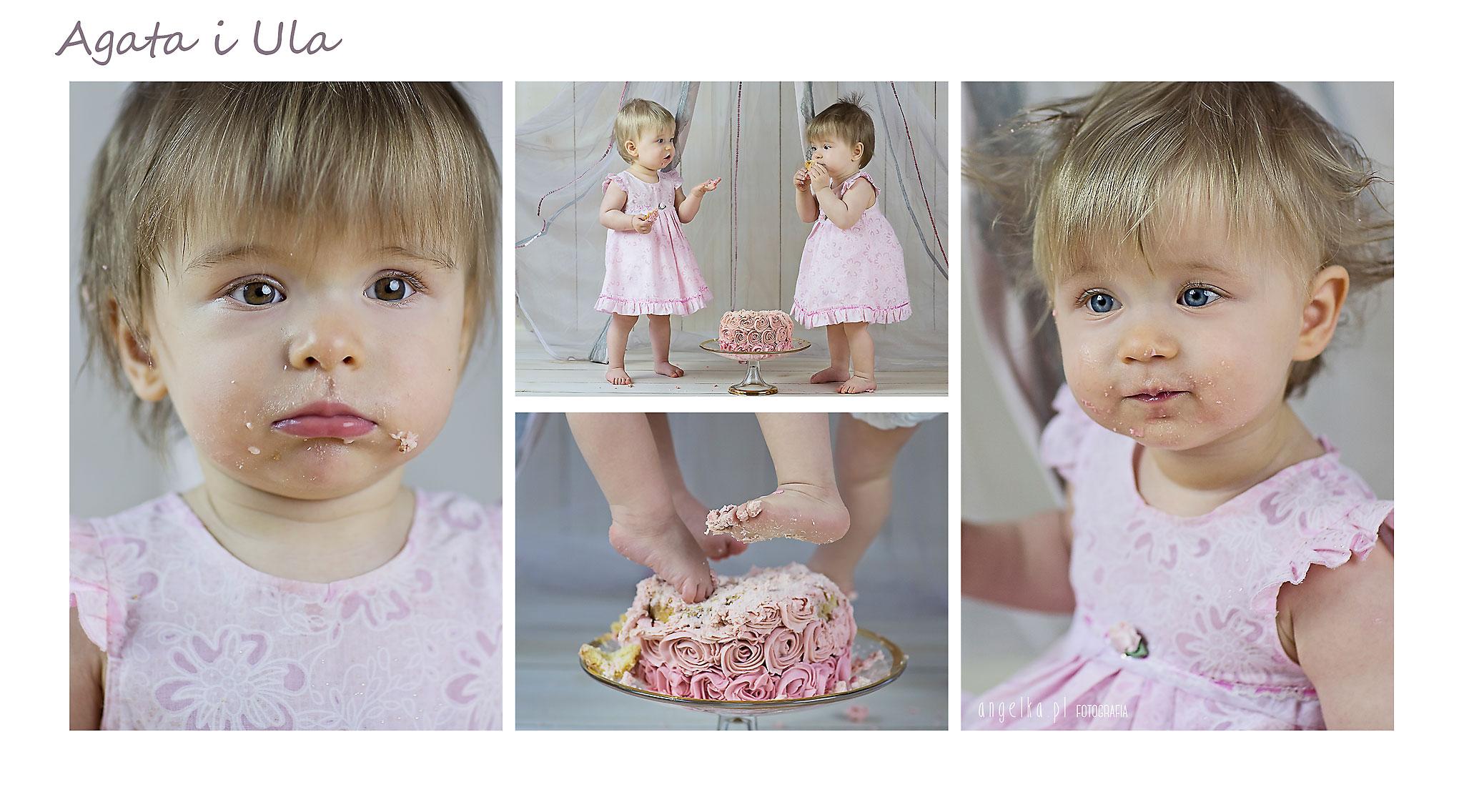 sesja urodzinowa z prawdziwym tortem