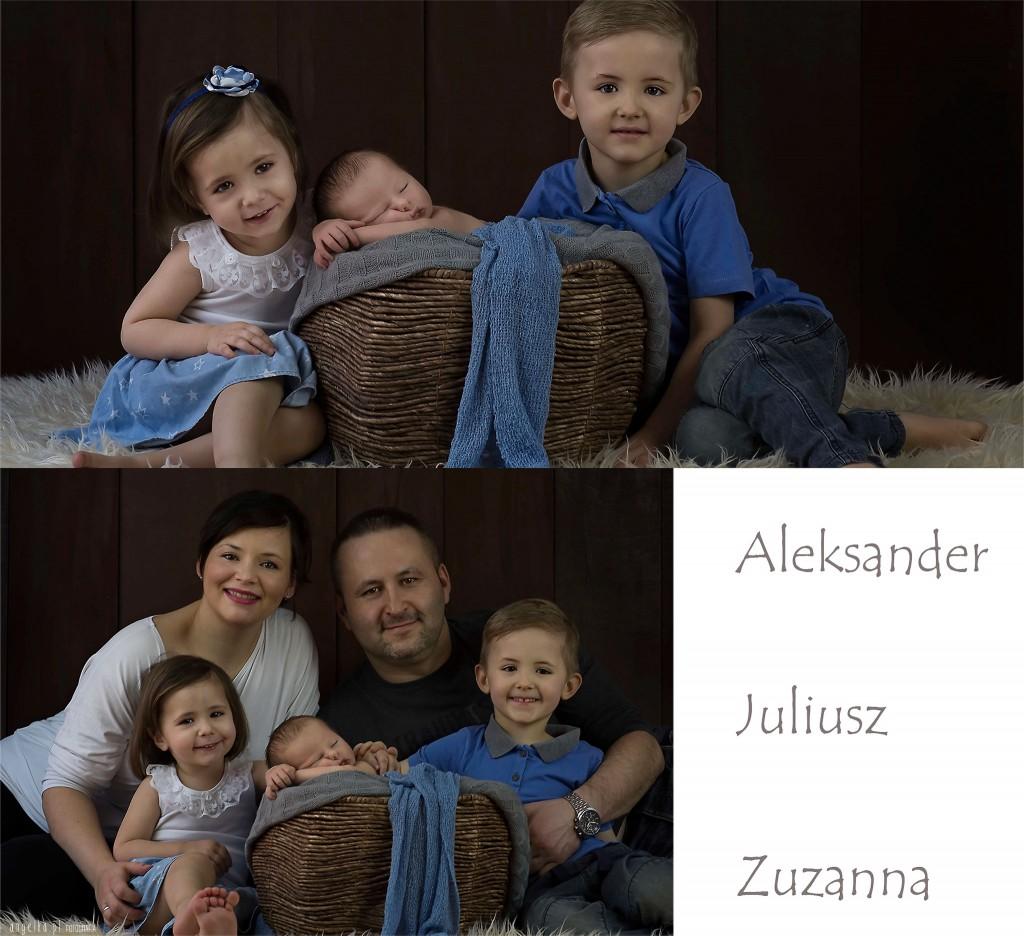 Aleksander z rodziną