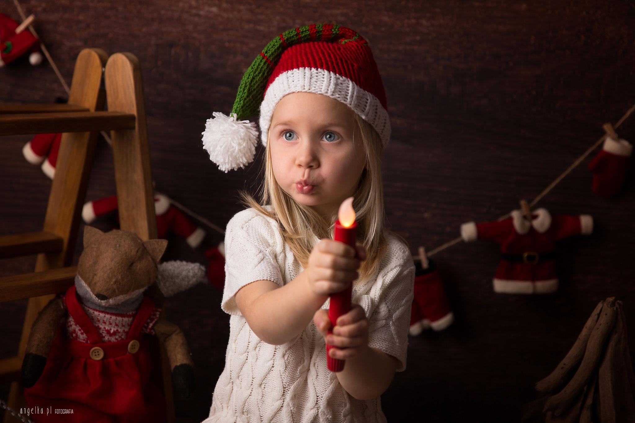 sesja dziecięca na święta warszawa