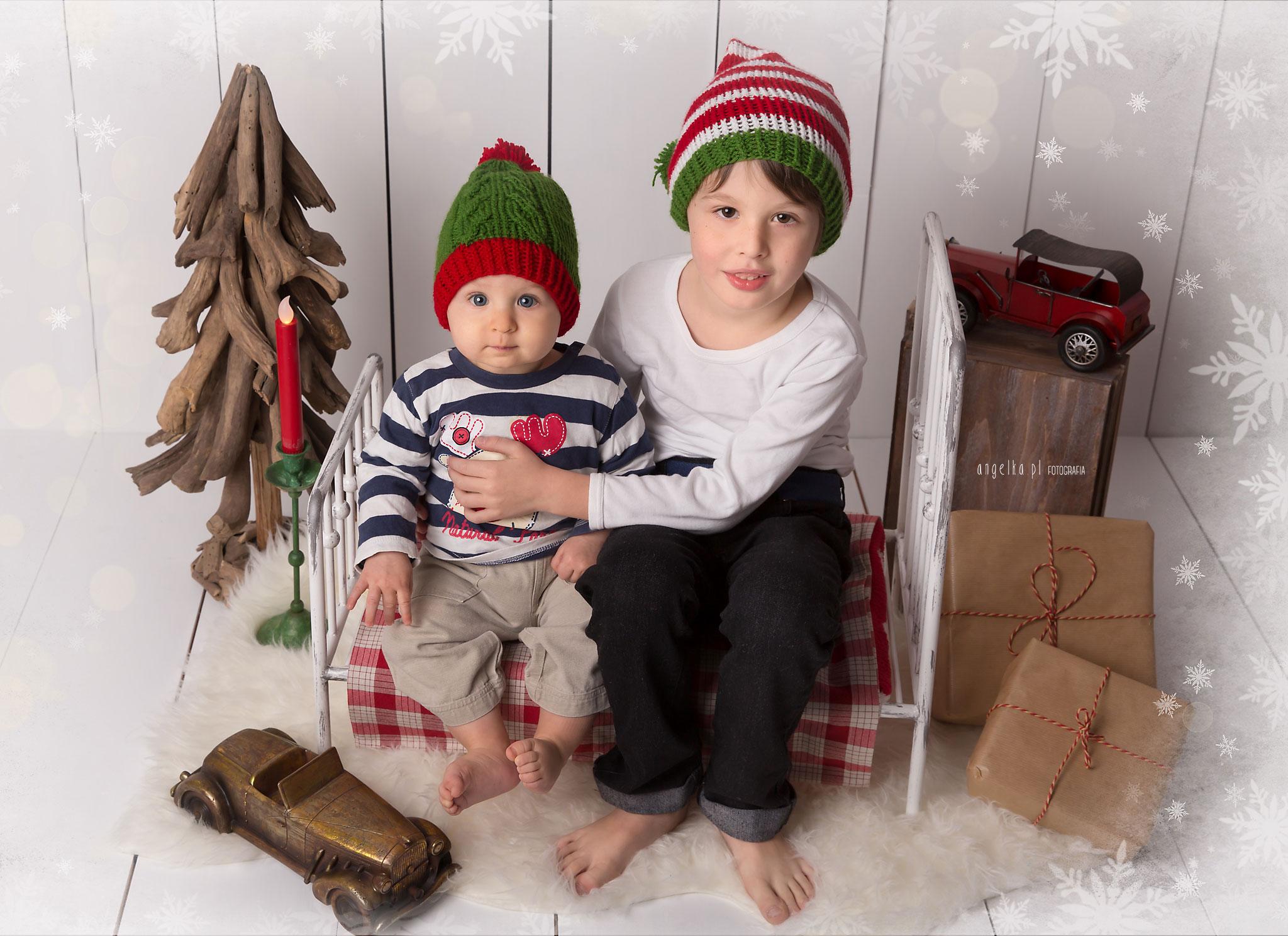 świąteczne zdjęcia Szymona i Damiana