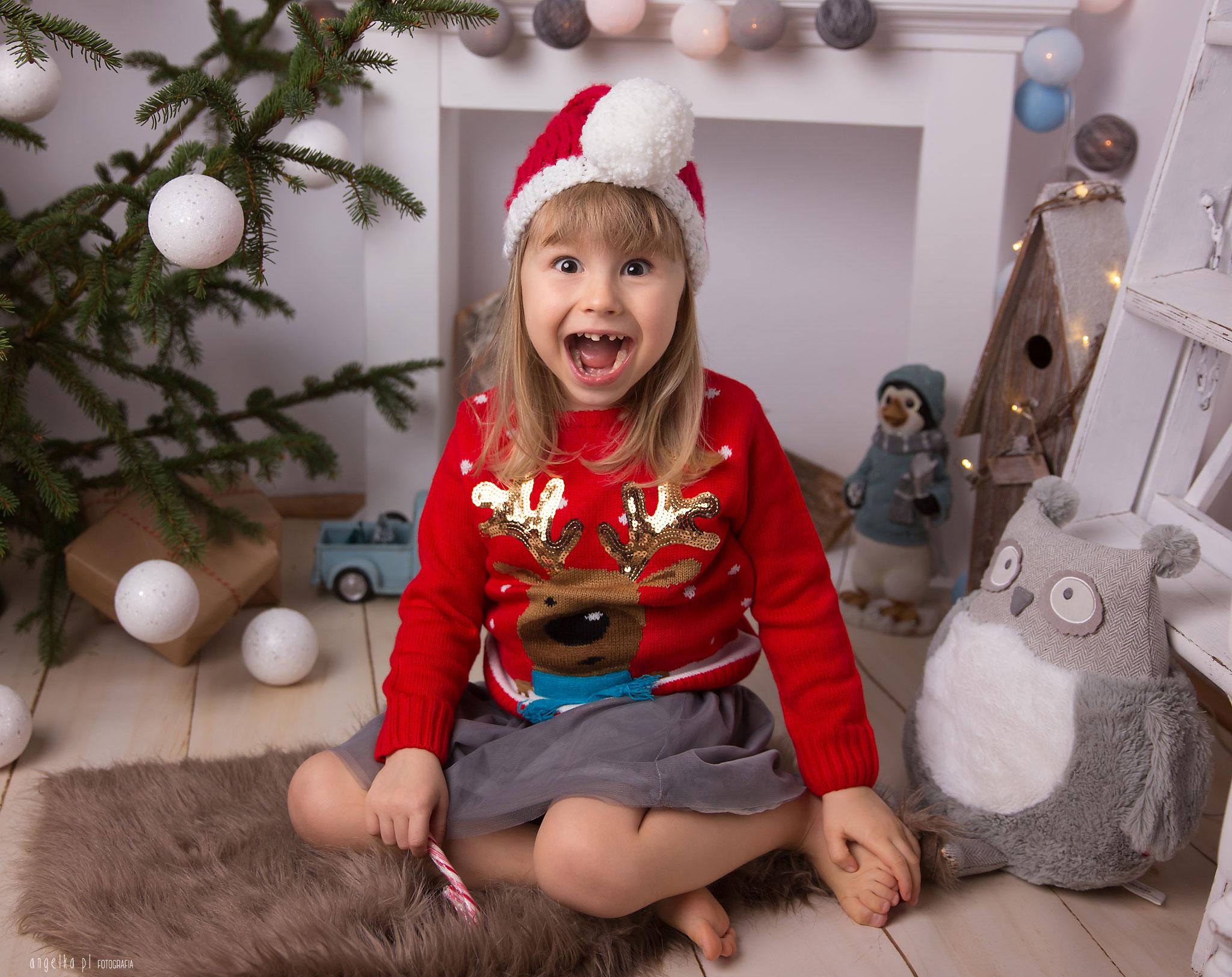 Alicja mini sesja świąteczna warszawa