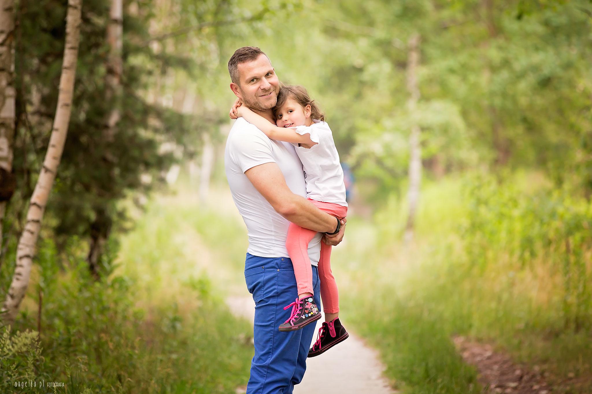 zdjęcia z tatą w lesie