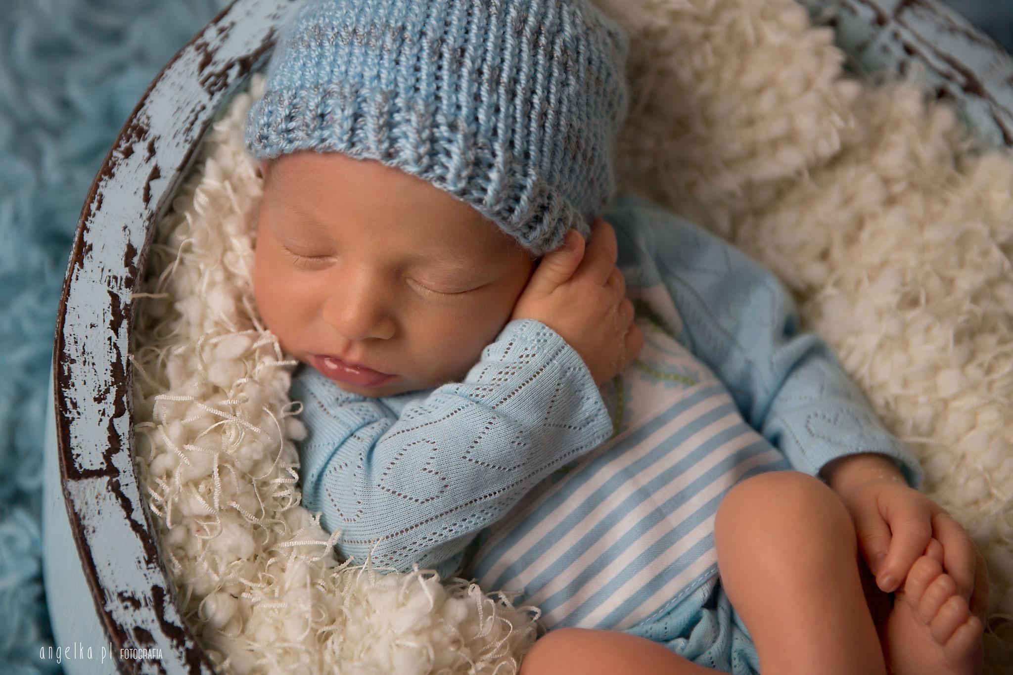 zdjęcie chłopięce noworodkowe
