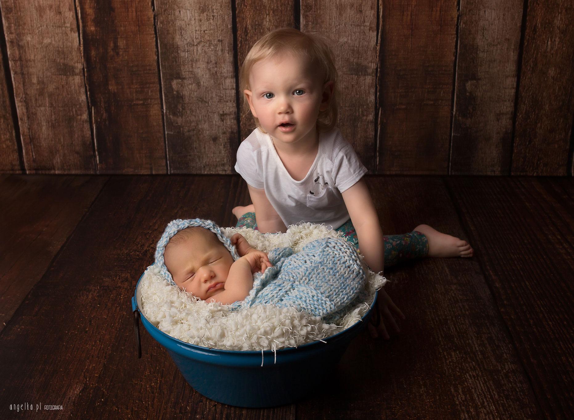 noworodkowe z siostrą warszawa